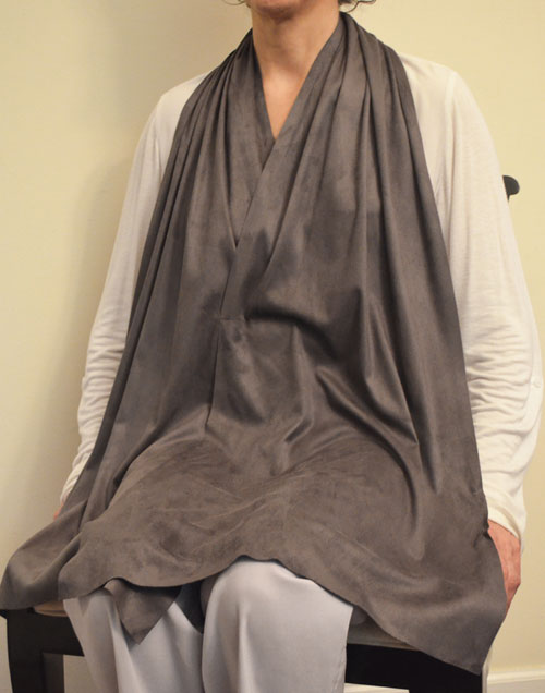Cravaat II Wide Soft Black dining scarf adult bib