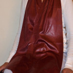 Cravaat II Burgundy Pebble Long dining scarf adult bib