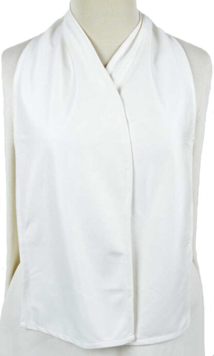 Cravaat White dining scarf adult bib
