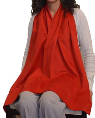 Cravaat II Wide dining scarf adult bib - Red