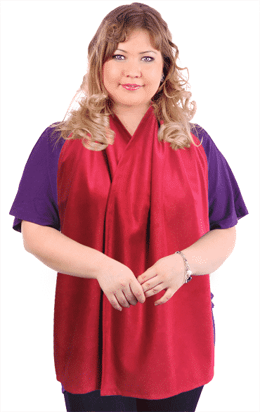 Adult Bib Dining Scarf- Cravaat Wide Red
