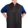 Cravaat XXL Black dining scarf adult bib