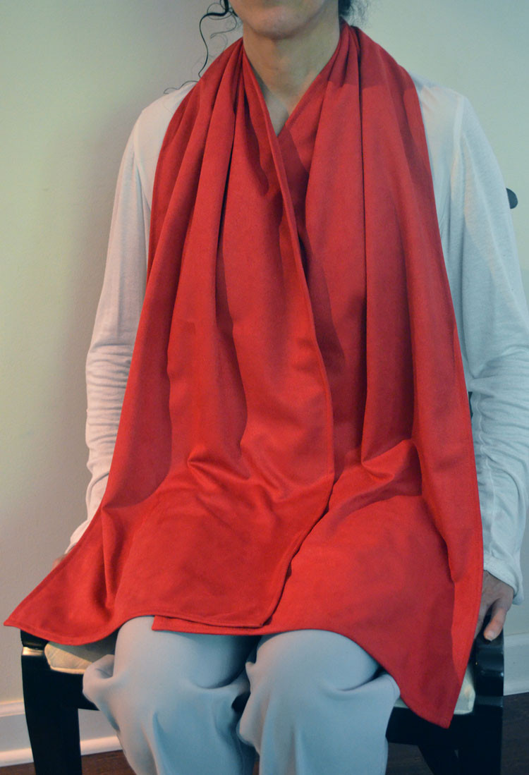 Cravaat Dining Scarf Adult Bib - RED