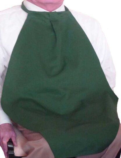 adult bib napkin at your neck lg in green