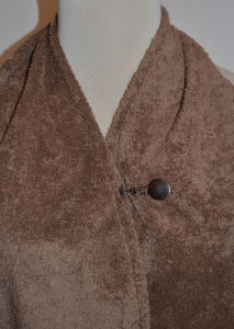 Button & Loop Closure for adult bib dining scarf
