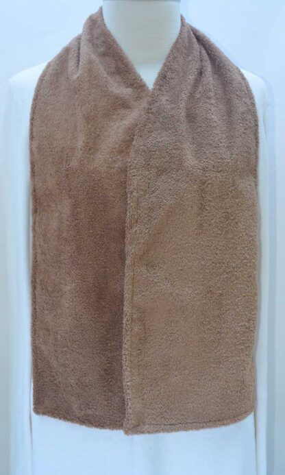 Adult Bib Dining Scarf Absorbent Waterproof Taupe