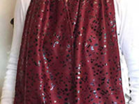 Adult Bib Dining Scarf Wide - Cravaat Wide Burgundy Dot - CRW21-BDT
