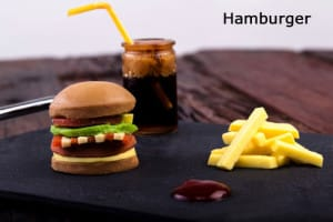 Dysphagia friendly melt in your mouth burger and fries.
