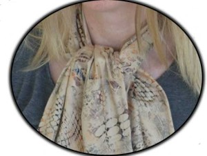 Adult Bib Dining Scarf tied
