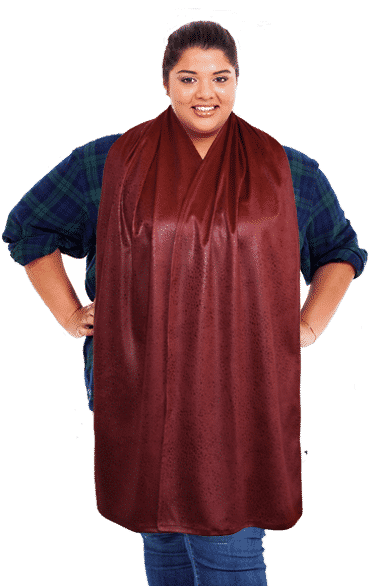 Cravaat Large - Burgundy Pebble Adult Bib Dining Scarf