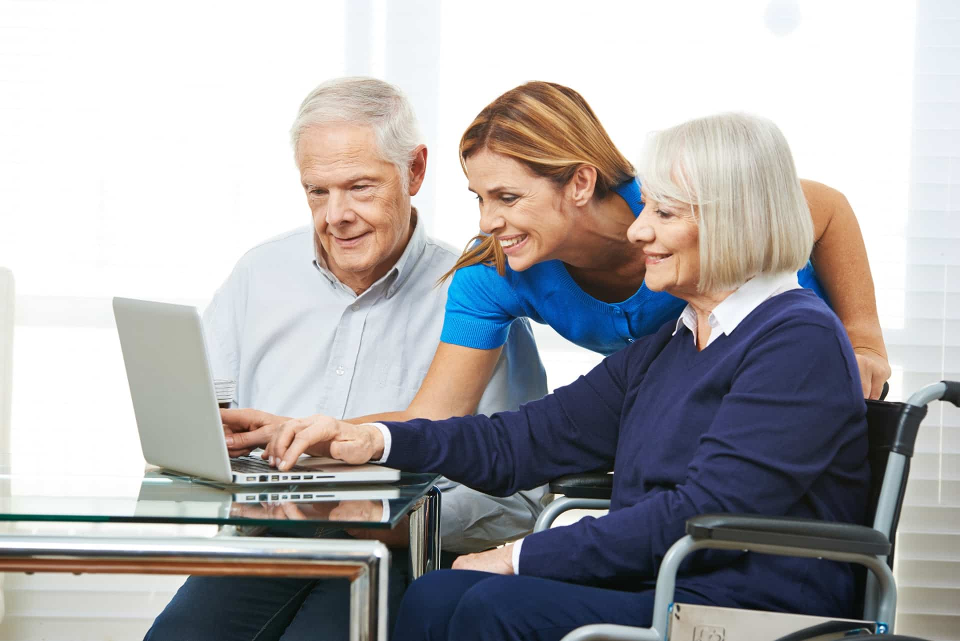 When caregiving includes computer assistance